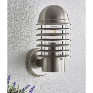 Endon Louvre 1lt wall - Stainless steel