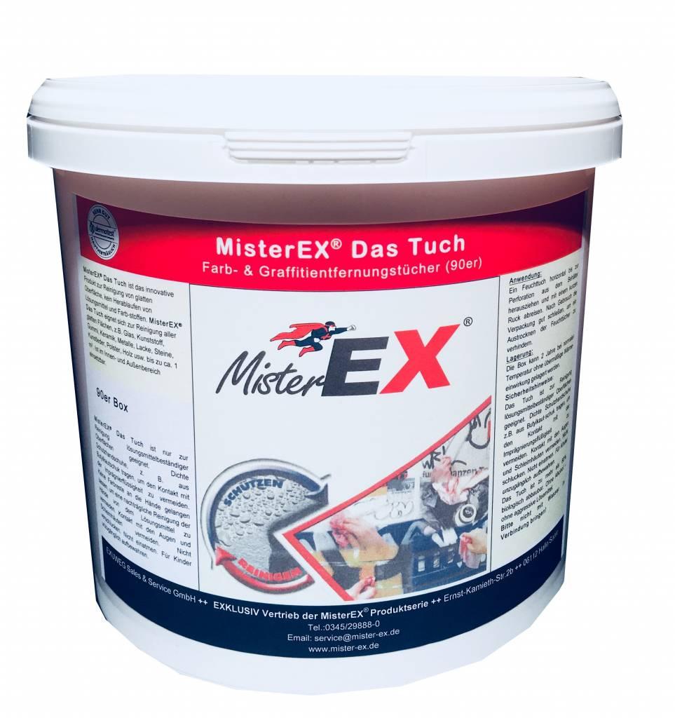 MisterEX MisterEX Das Tuch ( Graffitientfernungstücher VPE 6 Gebinde a´90 Tücher )