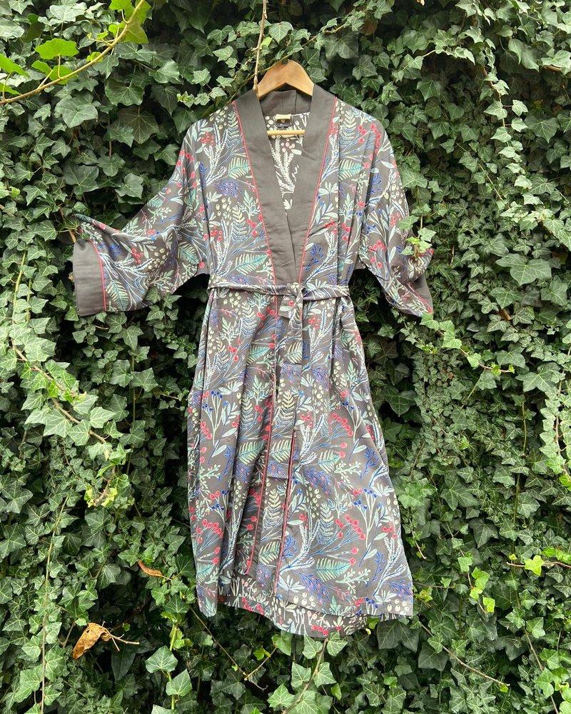 The Shop Kimono Berries Charcoal