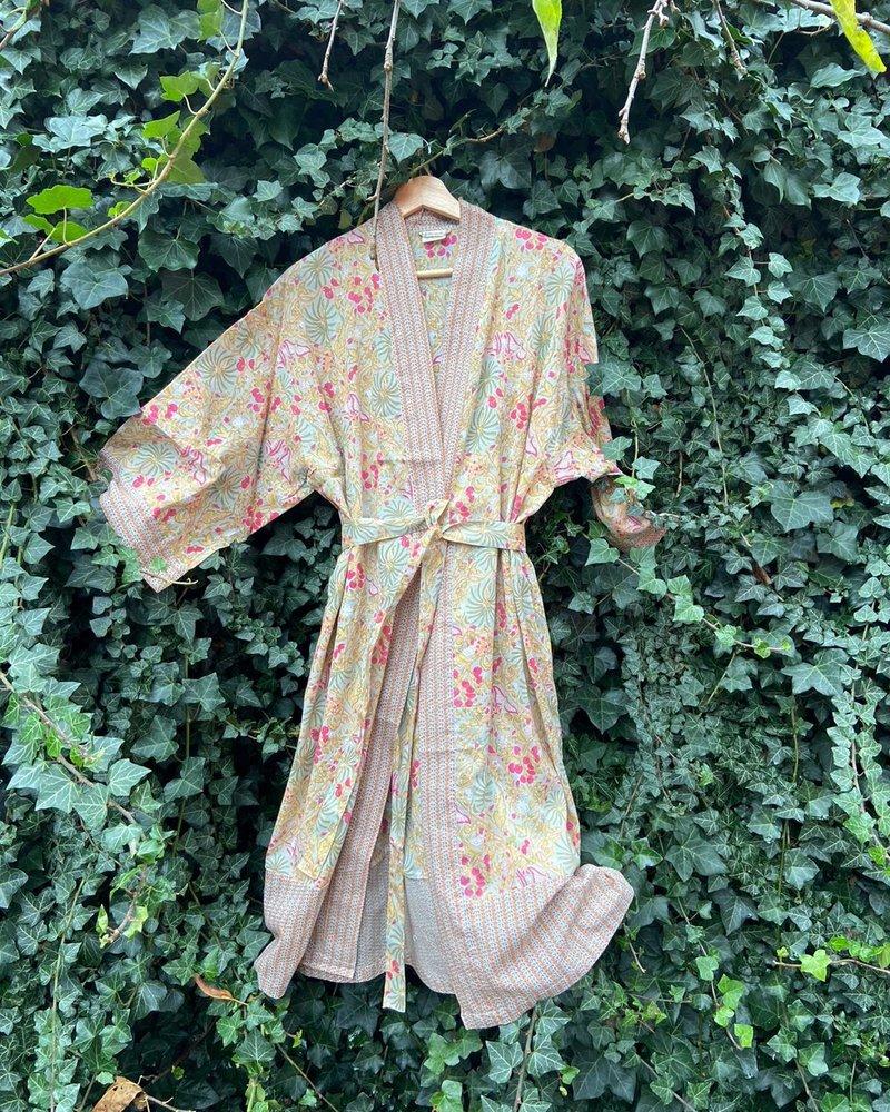 The Shop Kimono Palm Aqua
