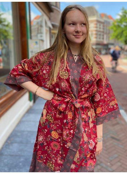 Kimono Malabar Red