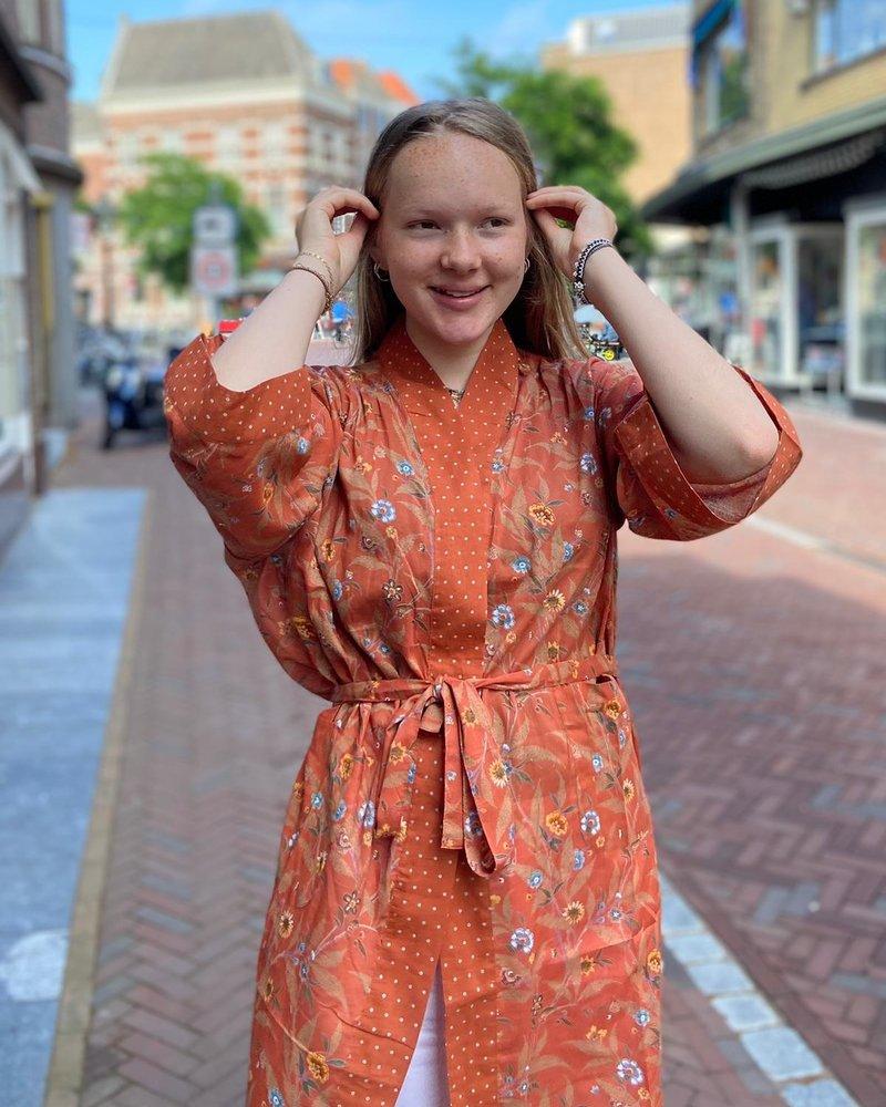 The Shop Kimono Wildflower Rust