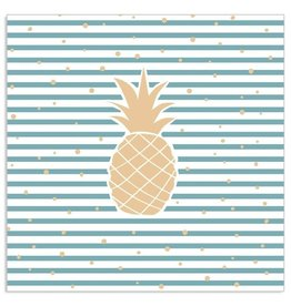 Arte Bene Servietten Pineapple Lines Dots Gold Blue