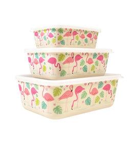 Rex London Boxes set/3 bamboe flamingo