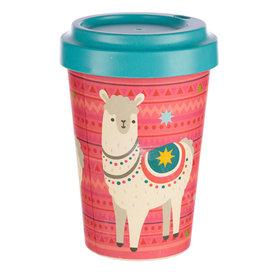 Puckator Travel mug alpaca