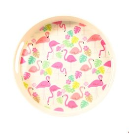 Rex London Tray bamboo flamingo