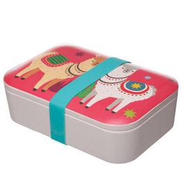 Puckator Lunchbox bamboe alpaca