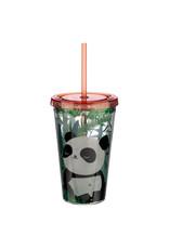 Puckator Beker met rietje panda