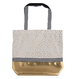 Arte Bene Shopping bag navy + gold