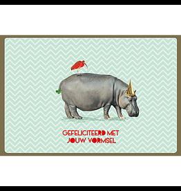 Enfant Terrible Kaart vormsel nijlpaard