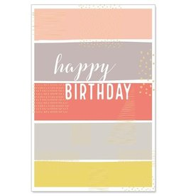 Arte Bene Kaart birthday multicolor