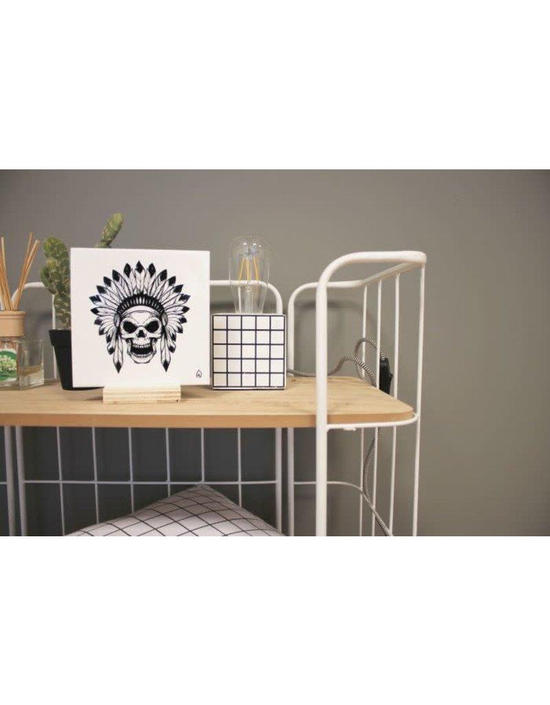 House Vitamin Keramische tegel - Skull