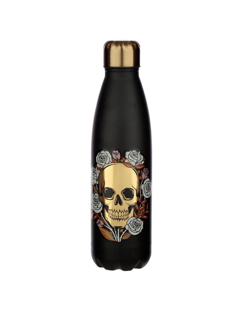Puckator Drinking Bottle Skull & Roses