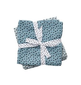 Done by Deer Burp Cloth 2-pack Blue