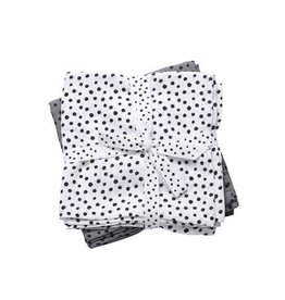 Done by Deer Burp Cloth 2-pack Grey