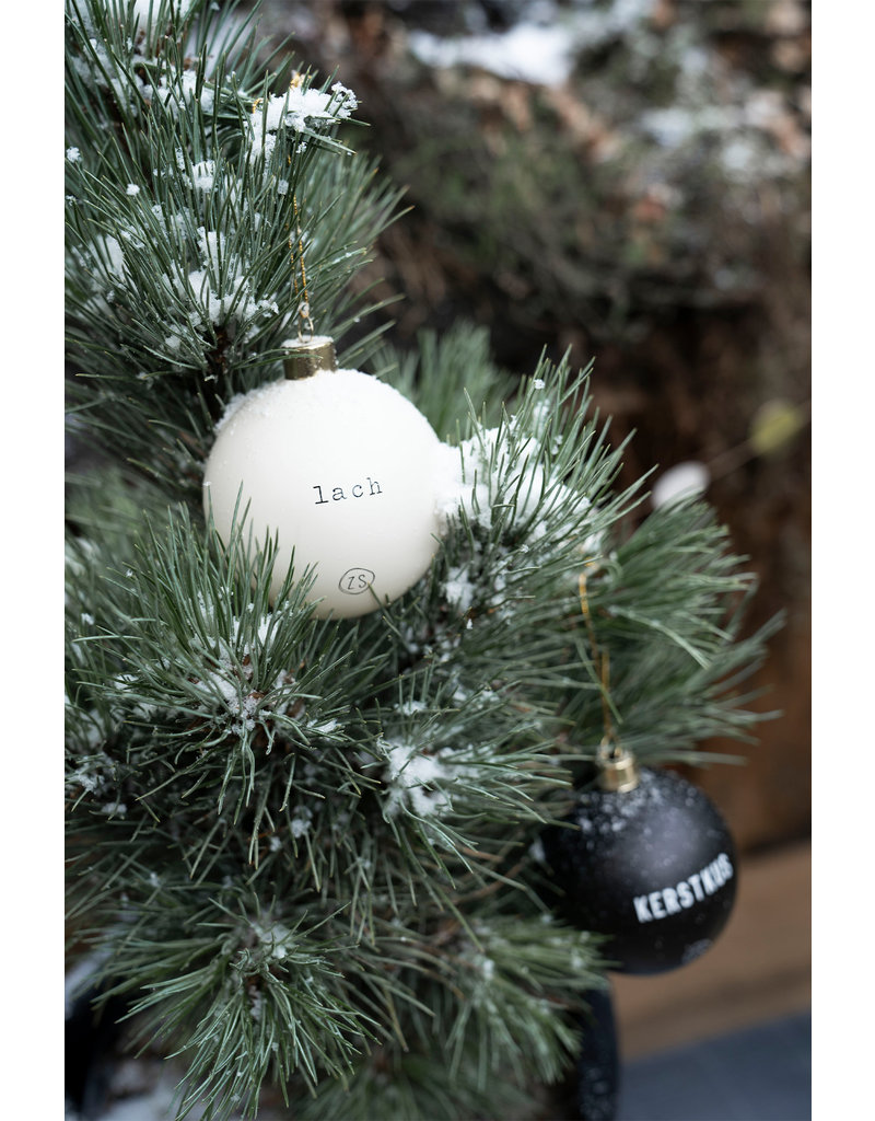 Zusss Doosje Kerstballen Zwart