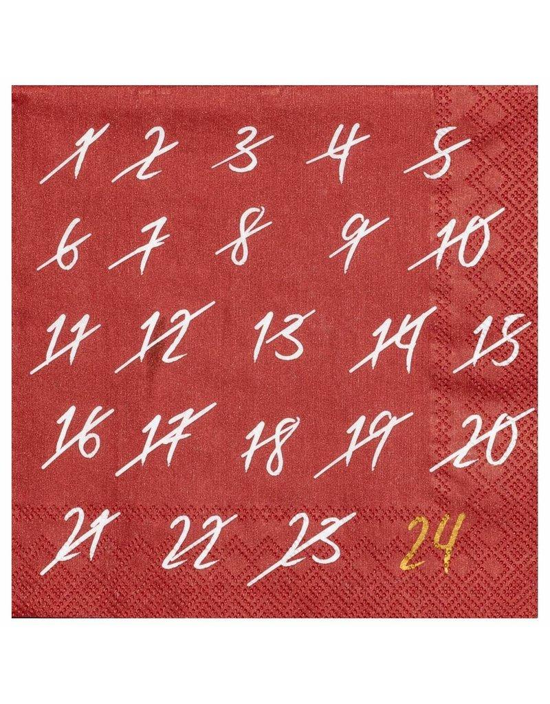 Räder Cocktail Napkin Advent Countdown