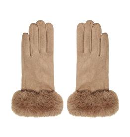 Handschoenen Imitatiebontje Beige