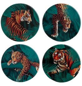 Puckator Set van 4 onderzetters Tiger