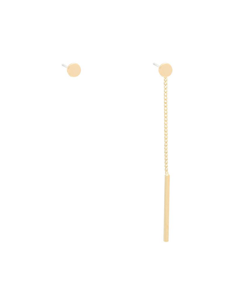 Asymmetrische Oorbellen Round goud