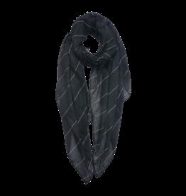 Zomersjaal zwart gestreept