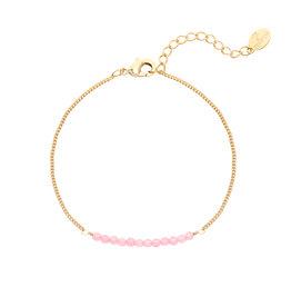 Armbandje Beads Gold/Pink