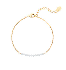 Armbandje Beads Gold/Grey