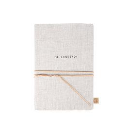Zusss Notitieboek met veter Hé Leukerd