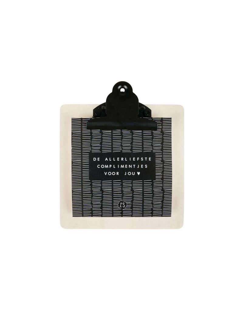 Zusss Complimentenkaartjes op Klembord