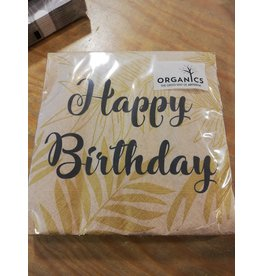 Arte Bene Servietten organics birthday gold