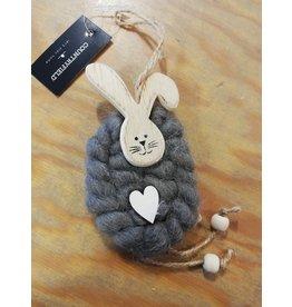 Hanger konijn wol grijs