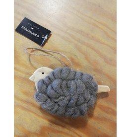 Hanger vogel wol grijs