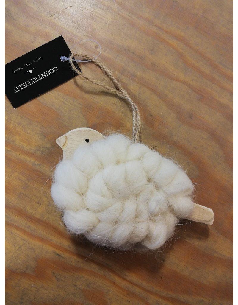 Hanger vogel wol wit