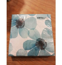 Arte Bene Servietten flowers watercolor blue