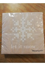 Servietten Let it snow Beige