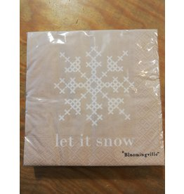 Servietten Let it snow Beige