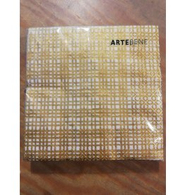 Arte Bene Servietten grid gold