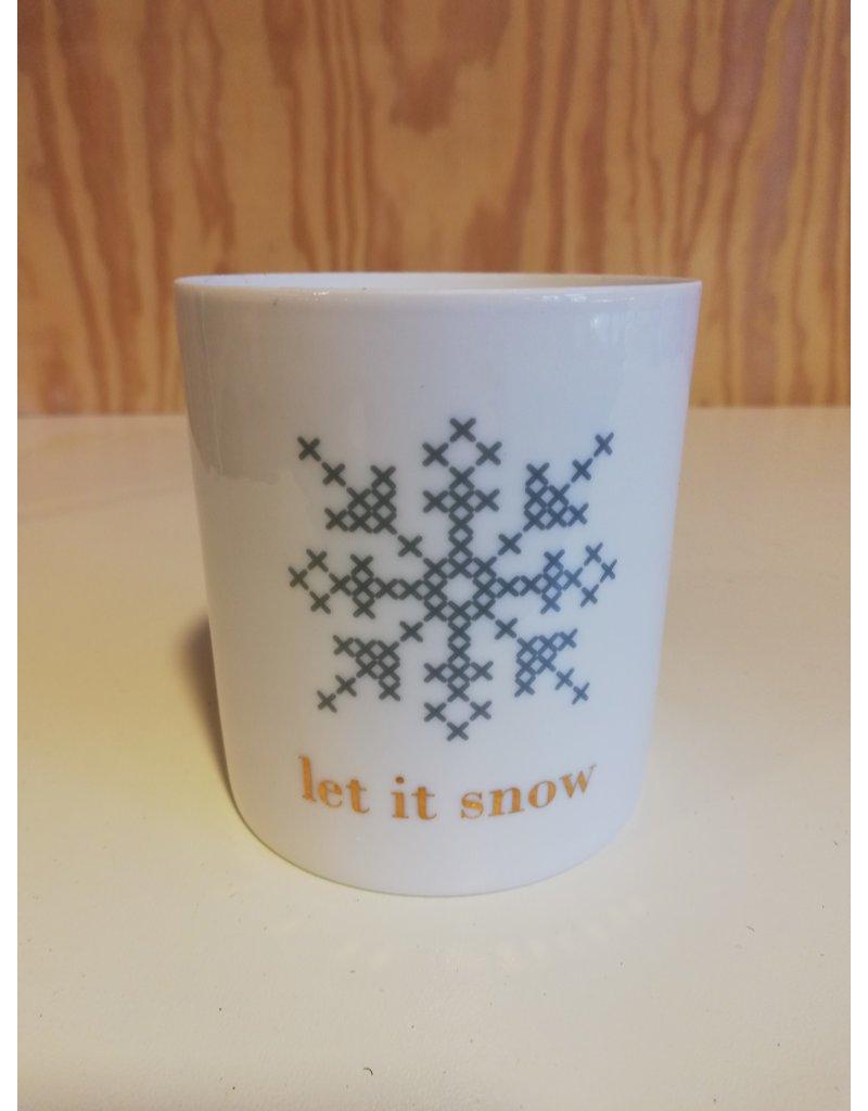 Theelicht Let It Snow