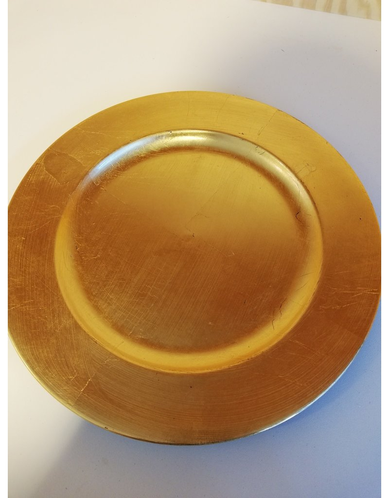 Deco plate gold