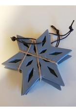 Ster hangers blauw set/3