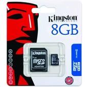 MicroSD 8GB + adapter
