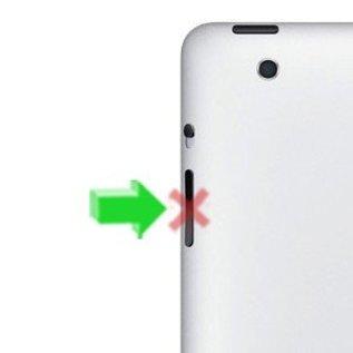 APPLE iPad 1 Volume knop