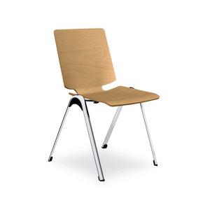 Interstuhl bureaustoelen VLEGSis3 - Houten schaal, ongestoffeerd