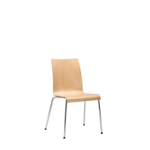 Interstuhl bureaustoelen CURVEis1 - Vierpoots, ongestoffeerd