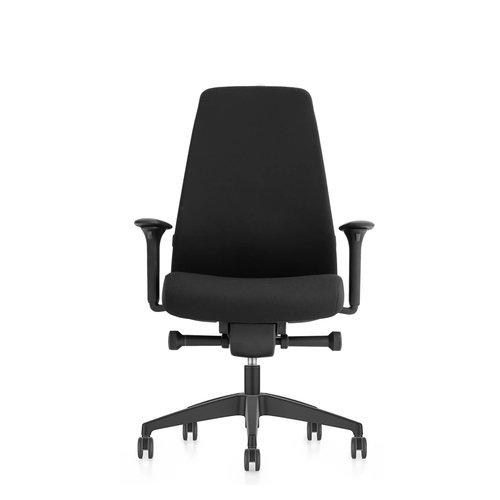 Interstuhl bureaustoelen Interstuhl New EVERYis1 met gestoffeerde rug zwart