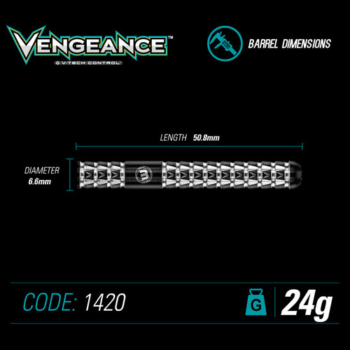 WINMAU Winmau Vengeance steeltip darts 24gr