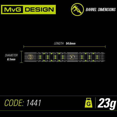 WINMAU Winmau MvG Adrenalin steeltip dartpijlen 23 gr.