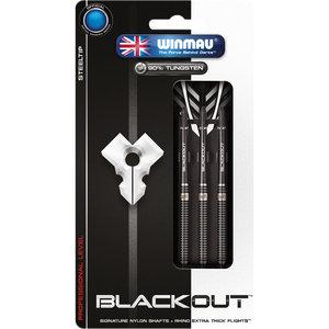 WINMAU Winmau Blackout steeltip dartpijlen 22gr