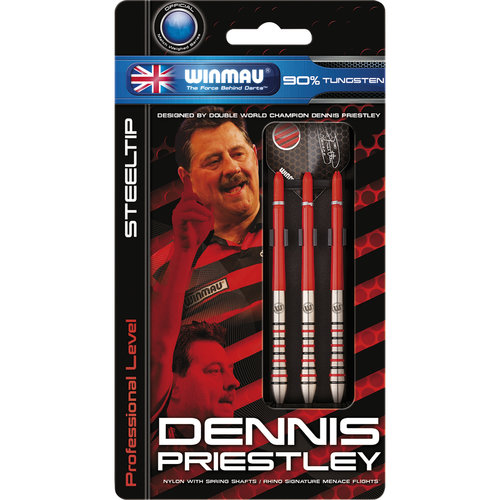 WINMAU Winmau Dennis Priestley steeltip dartpijlen 21gr