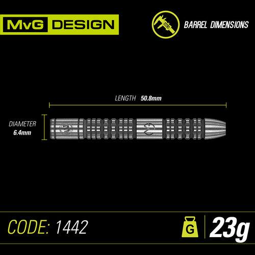 WINMAU Winmau MvG Absolute steeltip dartpijlen 23 gr.